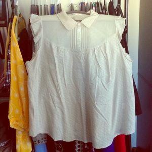NEW ModCloth Sleeveless Top, pale gray, Size 2X